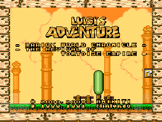 Screenshot Thumbnail / Media File 1 for Super Mario World (USA) [Hack by Anikiti Rev 0.422] (~Luigi's Adventure - The Revival of Tortoise Empire) (Ja)